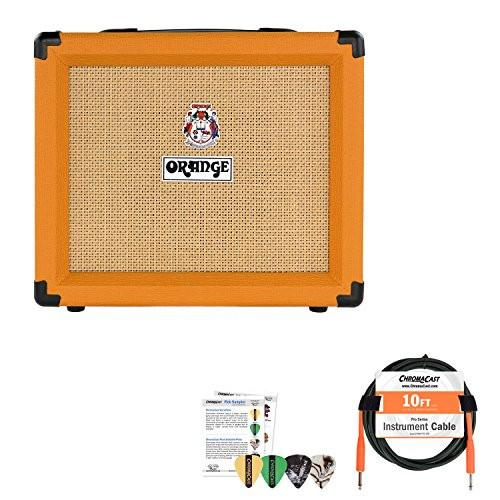 Orange Crush 20RT Combo Guitar Amp with Cable and Pick Sampler