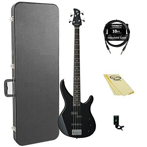 Yamaha TRBX174 BL-KIT-1 Electric Bass Guitar Kit with ChromaCast Hard Case and Accessories, Black