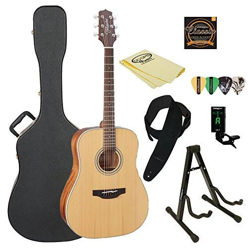 Takamine GD20 Dreadnought Acoustic Guitar, Natural, with ChromaCast Acoustic Hard Case & Accessories