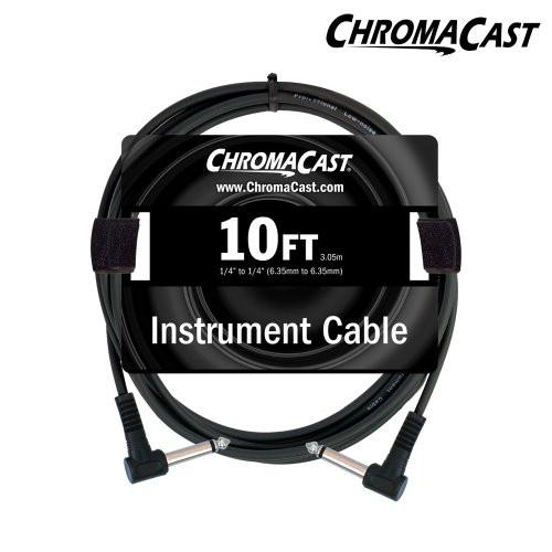 ChromaCast 10ft Instrument Cable with Molded Ends, Angle - Angle