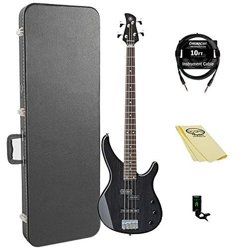 Yamaha TRBX174EW TBL-KIT- Electric Bass Guitar kit with ChromaCast Hard Case and Accessories, Black