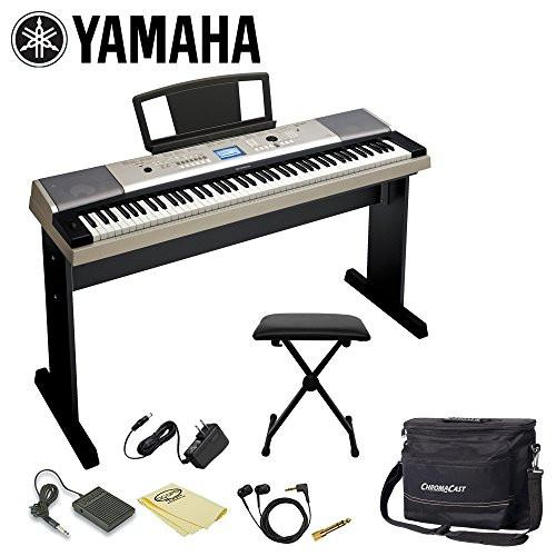 Yamaha YPG-535 88-Key Grand Piano Keyboard Kit - Includes: Keyboard Bench, Gig Bag, Headphones, Stand, Music Rest, DVD, Adapter & Sustain Pedal