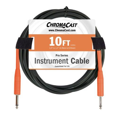 ChromaCast Pro Series Cables CC-PSCBLSS-10SOR Sunset Orange 10ft Pro Series Instrument Cable, Straight - Straight