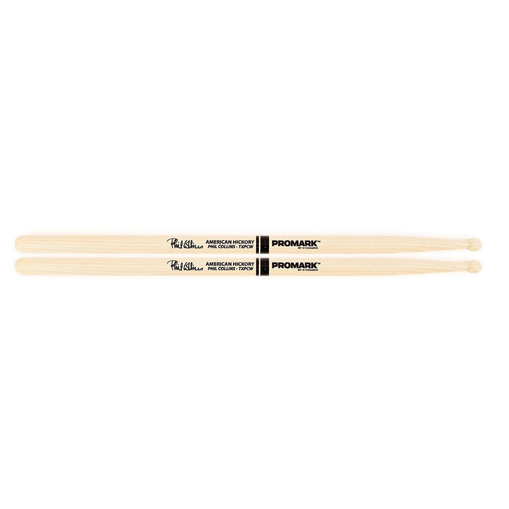Promark TXPCW American Hickory Phil Collins Autograph Series Wood Tip, Single Pair