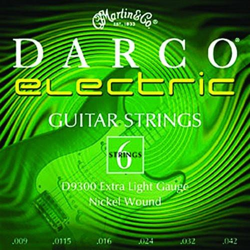 Martin Darco D9300 Nickel Plated Electric Guitar Strings, Extra Light .009-.042