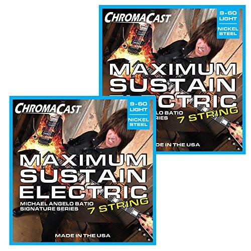 ChromaCast Maximum Sustain 7 String Electric Guitar Strings, MAB Signature Series - 2 Pack