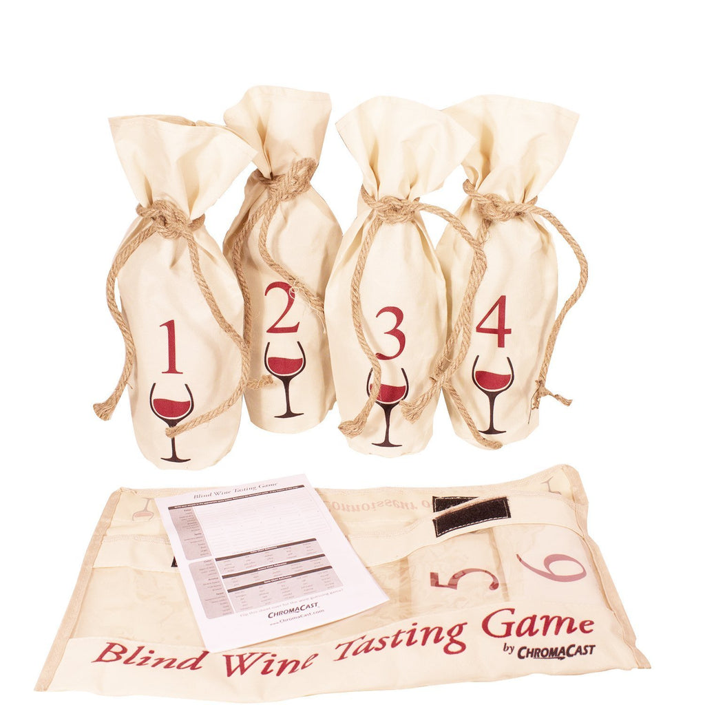 Blind Wine Tasting Game Includes Six Individually