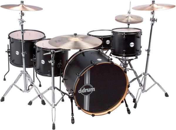 "Floor Model - ddrum Reflex Powerhouse 24"" Drum Set, 5 Piece, Black Satin"