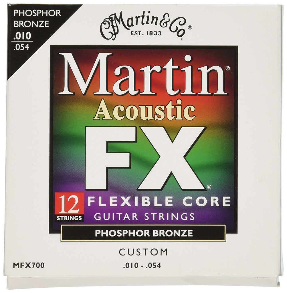 Martin MFX700 Flexible Core 92/8 Phosphor Bronze Custom Light 12-String