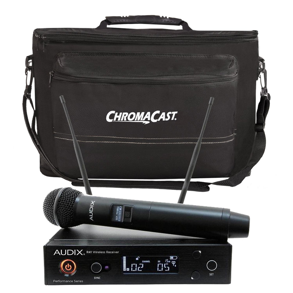 Audix AP41 OM2 Handheld Wireless System with ChromaCast Musician's Gear Bag