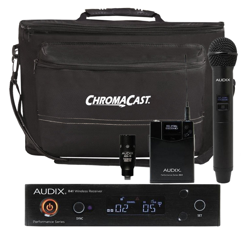 Audix AP41 OM2 L10A Lavalier Wireless System with ChromaCast Musician's Gear Bag