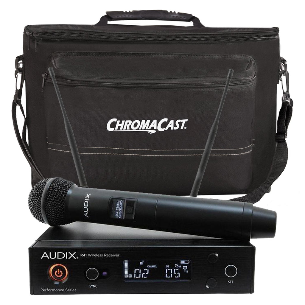 Audix AP41 OM5 Handheld Wireless System with ChromaCast Musician's Gear Bag