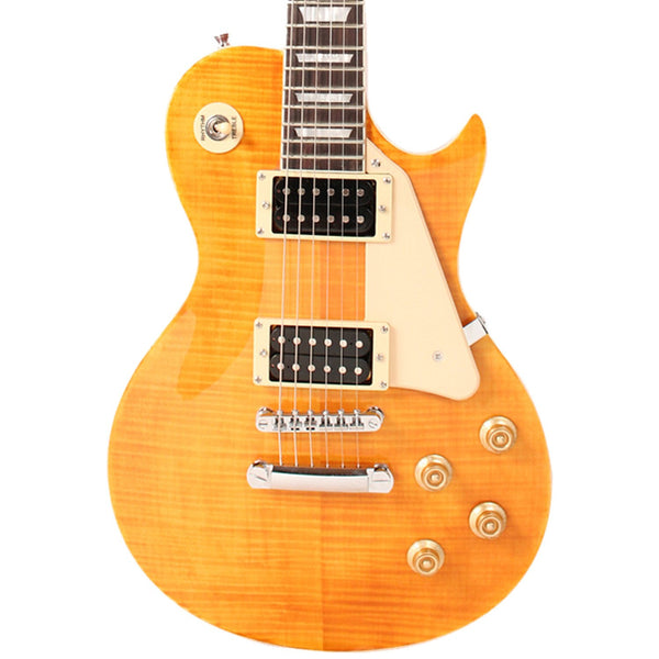 Sawtooth Heritage Series Right-Handed Flame Maple Top Electric Guitar, Tuscan Flame
