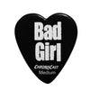 "ChromaCast ""Bad Girl"" Heart Shaped Pick 12 Pack in Light, Medium and Heavy Gauge"