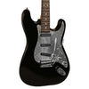 Sawtooth Black ES Series Electric Guitar w/ Chrome Pickguard - Includes Accessories, Sawtooth Amp, Hard Case and Online Lesson