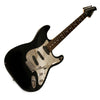 Sawtooth ES Series Electric Guitar, Black with Chrome Pickguard