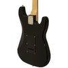Sawtooth ES Series Left-Handed Electric Guitar, Black with Black Pickguard
