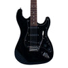 Sawtooth Black ES Series Electric Guitar w/ Black Pickguard - Includes: Accessories, Amp, Gig Bag & Online Lesson