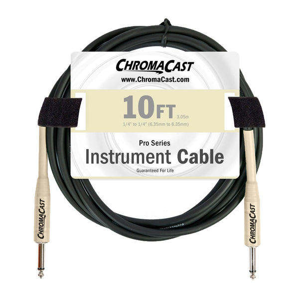 ChromaCast Pro Series Cables CC-PSCBLSS-10VC Vanilla Cream 10-Foot Pro Series Instrument Cable, Straight - Straight
