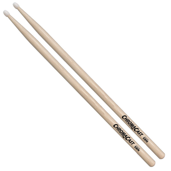 ChromaCast 5BN USA Hickory Drumsticks with Nylon Tip 1 Pair