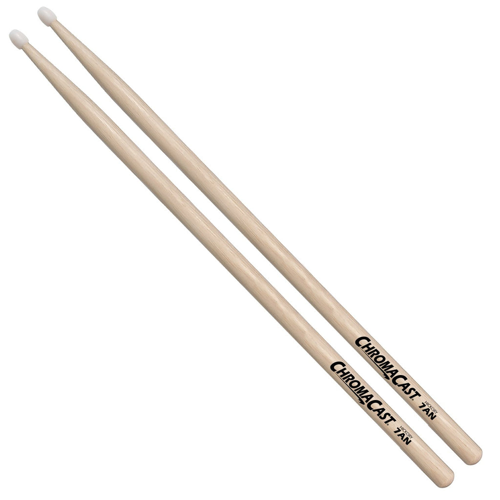 ChromaCast 7A USA Hickory Drumsticks with Nylon Tip 1 Pair