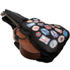 ChromaCast World Tour Graphic Two Pocket Acoustic Mini Jumbo Guitar Padded Gig Bag with Guitar Strap & Pick Sampler