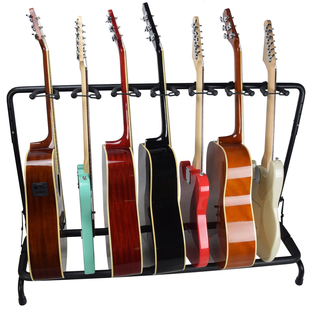 ChromaCast Folding Guitar Rack, Holds 7 Guitars