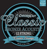 ChromaCast CC-GS-CB-ML-12 Classic Bronze Medium-Light Gauge(.011-.050) 12-String Acoustic Guitar Strings, 2 Pack