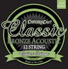 ChromaCast CC-GS-CB-M-12 Classic Bronze Medium Gauge(.012-.054) 12-String Acoustic Guitar Strings, 2 Pack