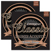 ChromaCast CC-GS-CB-M Classic Bronze Medium Acoustic Guitar Strings, .013-.056, 2 Pack