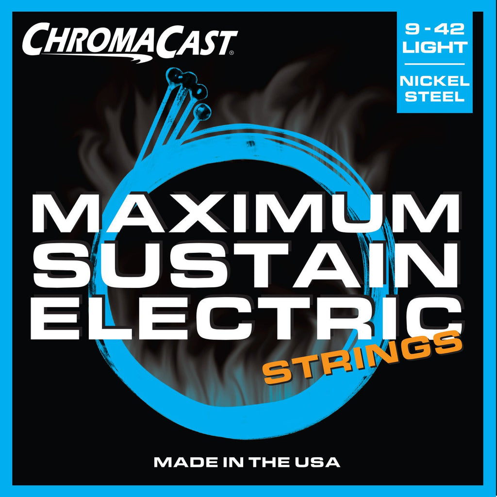 ChromaCast CC-GS-MS-L Maximum Sustain Light Gauge Electric Guitar Strings, .009-.042