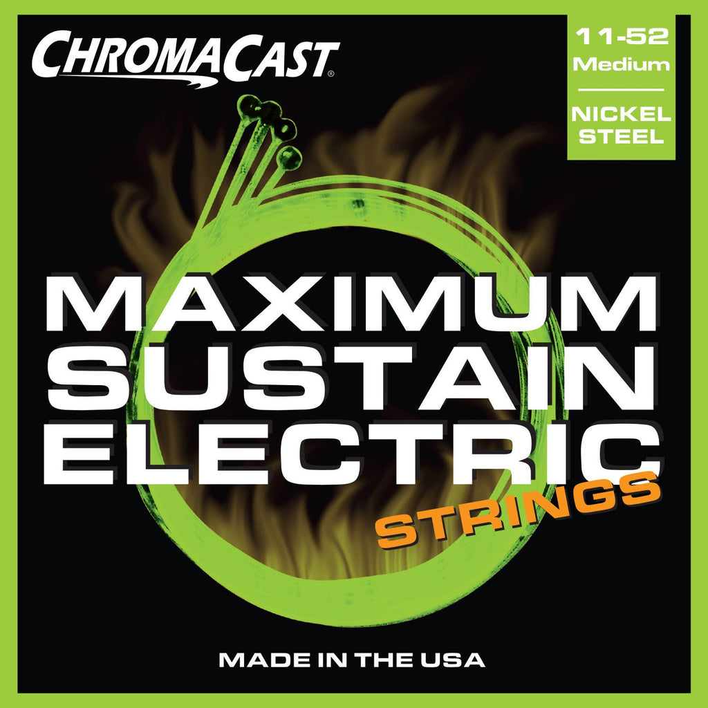 ChromaCast CC-GS-MS-M Maximum Sustain Medium Electric Guitar Strings, .011-.052