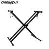 ChromaCast Double Braced Keyboard Stand and 2 Tier Adapter Bundle