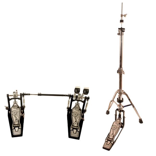 ChromaCast Pro Series Double Braced Hi Hat Stand with Chain Drive Double Bass Pedal