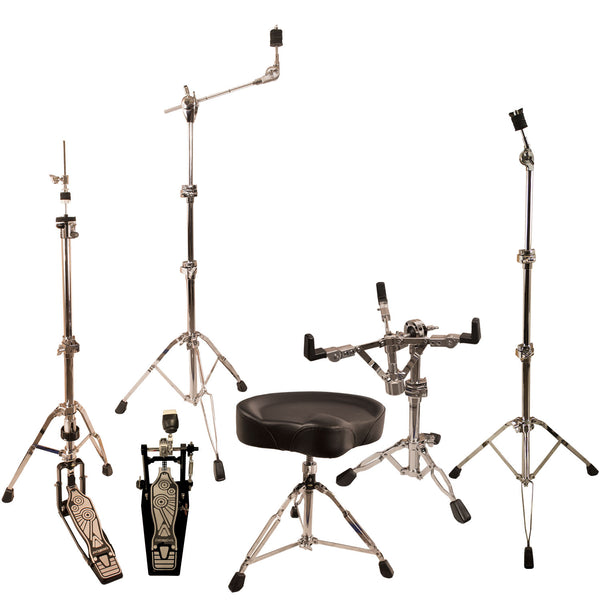 ChromaCast Pro Series Double Braced Drum Hardware Pack with Chain Drive Pedal & Throne