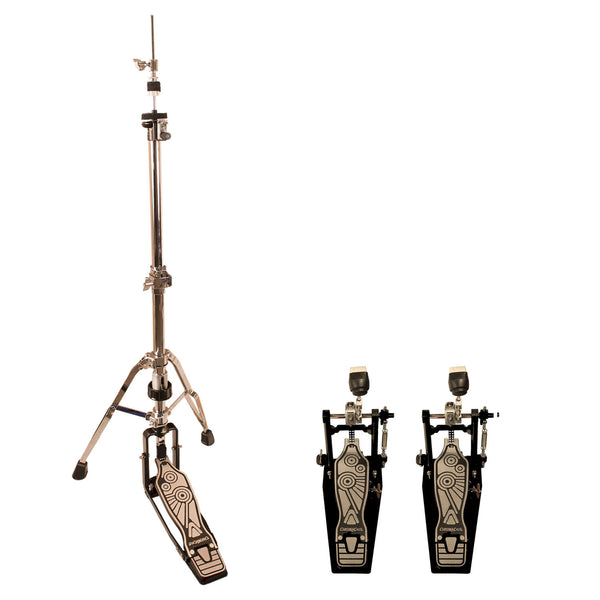 ChromaCast Pro Series Double Braced Hi Hat Stand with 2 Chain Drive Double Bass Pedals