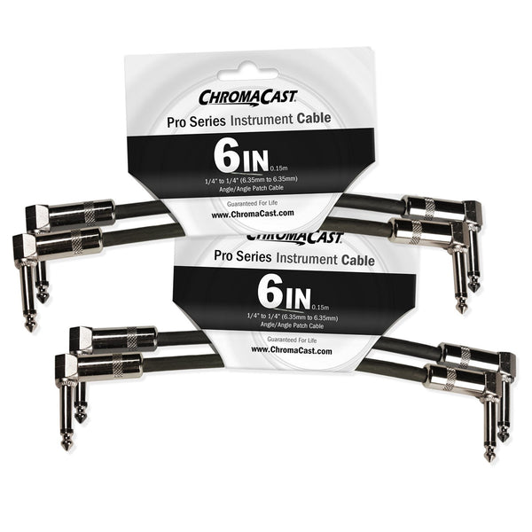 "ChromaCast 6"" Pro Series Patch Cable, Angle - Angle, 4-Pack"