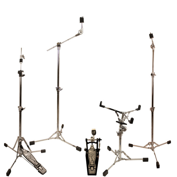 ChromaCast Retro Series Double Braced Drum Hardware Pack with Pro Series Chain Drive Pedal