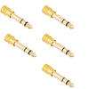 ChromaCast 3.5mm (Female) Stereo Plug To 1/4-Inch (Male) Stereo Jack Adapter, Pack of 5