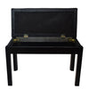 Chromacast Padded Wooden Double Size Keyboard/Piano Bench, Black
