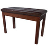 Chromacast Padded Wooden Double Size Keyboard/Piano Bench, Walnut