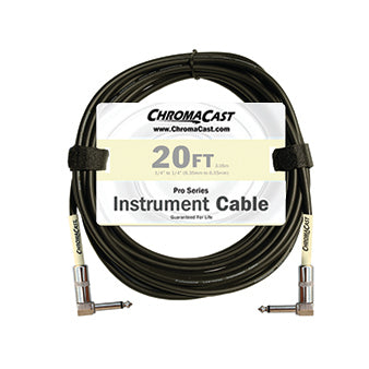 ChromaCast Pro Series Instrument Cable, Angle - Angle, Vanilla Cream, 20 foot