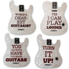 ChromaCast Assorted Guitar and Pick Shaped Drink Coasters(Pack 3), 4-Pack