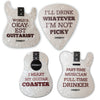 ChromaCast Assorted Guitar and Pick Shaped Drink Coasters(Pack 4), 4-Pack