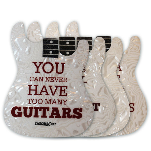 ChromaCast Strat Guitar Body Style Drink Coasters, Pack of 4
