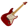 Sawtooth ES Series ST Style Electric Guitar Beginner's Bundle, Candy Apple Red with White Pearloid Pickguard