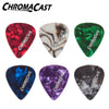 ChromaCast CC-CP-48PK Pearl Celluloid Guitar Picks, Assorted 48-Pack - Light, Medium and Heavy Gauge