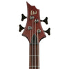 ESP LTD D-4-L/H-NS Natural Satin Left-Handed 4-String Electric Bass w/ Accessories & Gig Bag