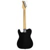 Sawtooth ET Series Electric Guitar, Black with Aged White Pickguard