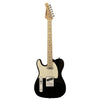 Sawtooth ET Series Left-Handed Electric Guitar, Black with Aged White Pickguard